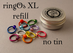 ringOs XL REFILL - Spectrum - Snag-Free Ring Stitch Markers for Knitting