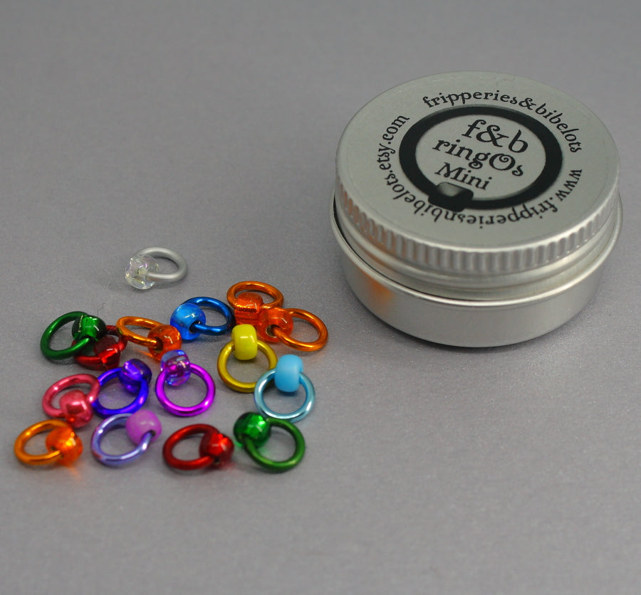 ringOs Mini Spectrum - Snag-Free Ring Stitch Markers for Sock Knitting