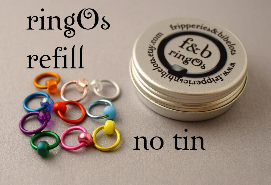 ringOs REFILL ~ Spectrum ~ Snag Free Ring Stitch Markers for Knitting
