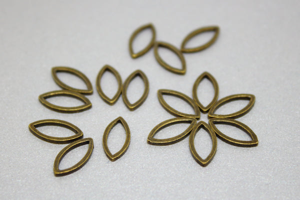 Simple Solid Snag-Free Mini Petal Ring Stitch Markers for Knitting