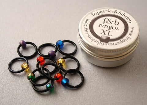 ringOs XL Stained Glass Window - Snag-Free Ring Stitch Markers for Knitting