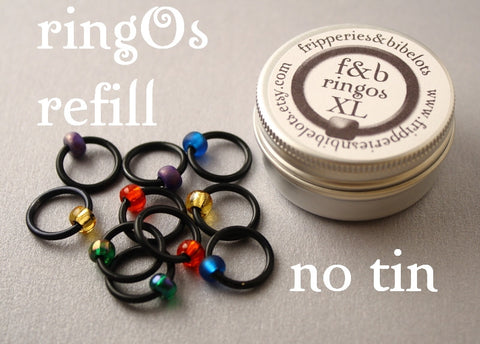 ringOs XL REFILL - Stained Glass Window - Snag-Free Ring Stitch Markers for Knitting