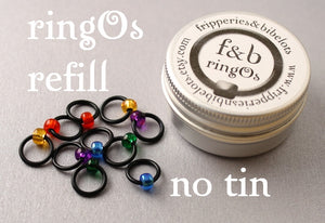 ringOs REFILL ~ Stained Glass Window ~ Snag Free Ring Stitch Markers for Knitting