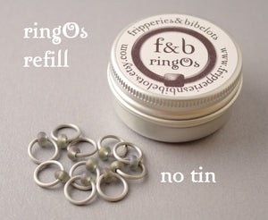 ringOs REFILL ~ Stormy Weather ~ Snag Free Ring Stitch Markers for Knitting