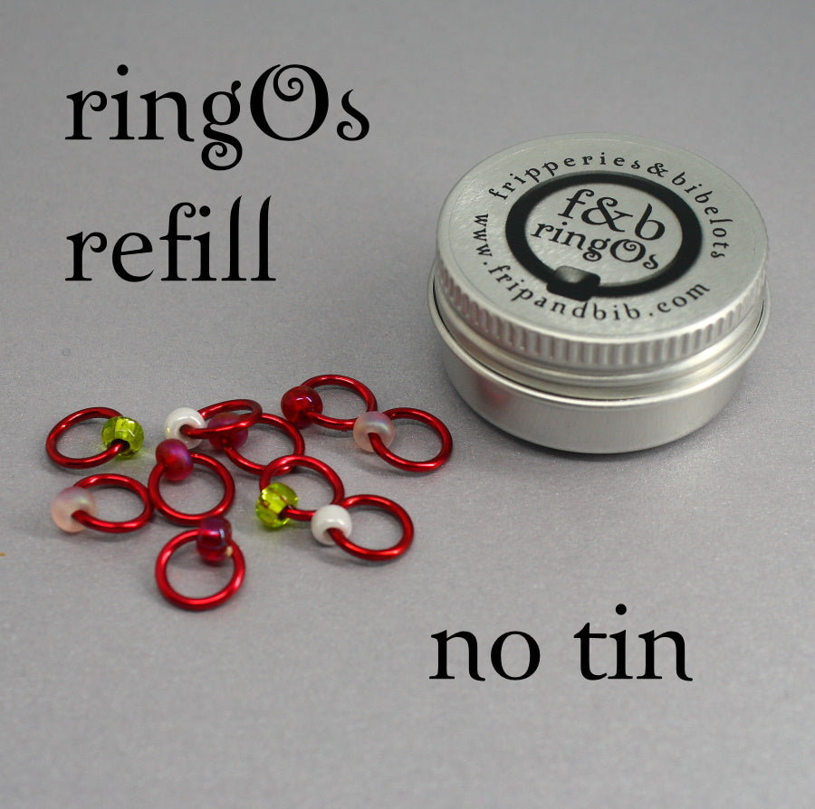 ringOs REFILL ~ Strawberry Fields ~ Snag Free Ring Stitch Markers for Knitting