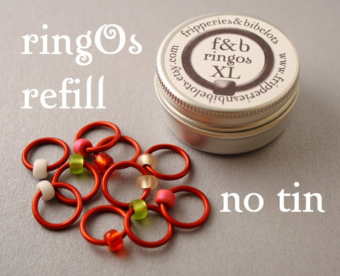 ringOs XL REFILL - Strawberry Fields - Snag-Free Ring Stitch Markers for Knitting