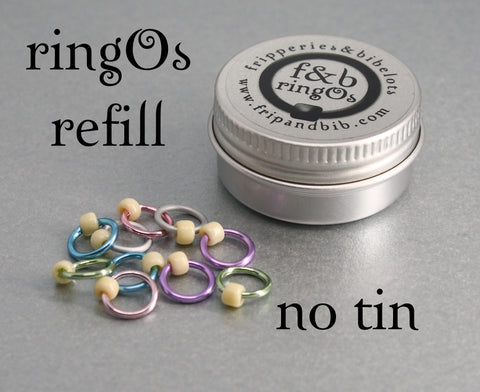 ringOs REFILL ~ Sugared Almonds ~ Snag Free Ring Stitch Markers for Knitting