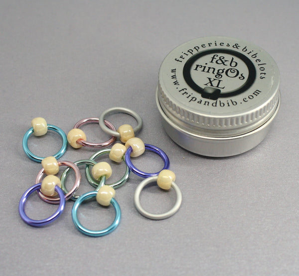 ringOs XL Sugared Almonds - Snag-Free Ring Stitch Markers for Knitting
