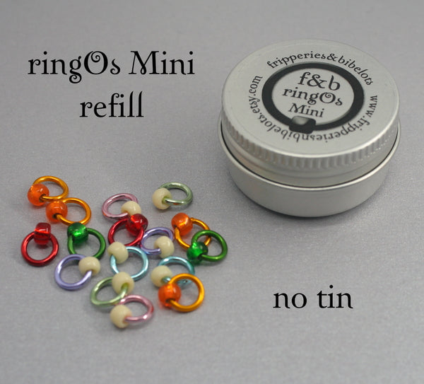 ringOs Mini Sugared Almonds - Snag-Free Ring Stitch Markers for Sock Knitting