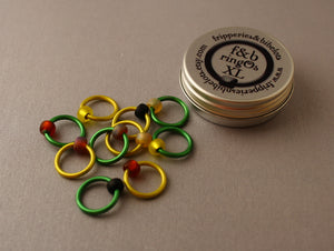 ringOs XL Sunflower - Snag-Free Ring Stitch Markers for Knitting