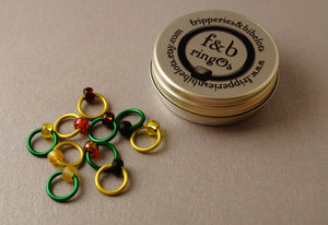 ringOs Sunflower ~ Snag Free Ring Stitch Markers for Knitting