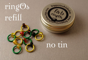 ringOs REFILL ~ Sunflower ~ Snag Free Ring Stitch Markers for Knitting
