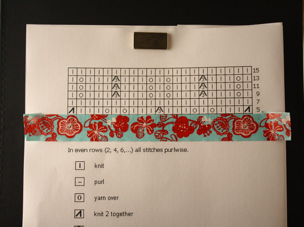 Paper Washi Tape for Marking Knitting Charts