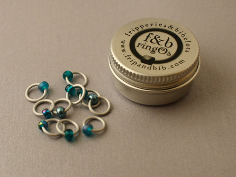 ringOs Tealicious ~ Snag Free Ring Stitch Markers for Knitting