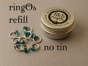 ringOs REFILL ~ Tealicious ~ Snag Free Ring Stitch Markers for Knitting