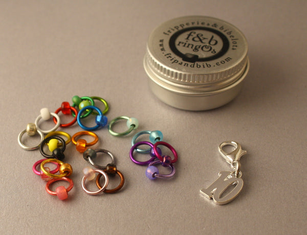 ringOs Ten ~ LIMITED EDITION Snag Free Ring Stitch Markers for Knitting