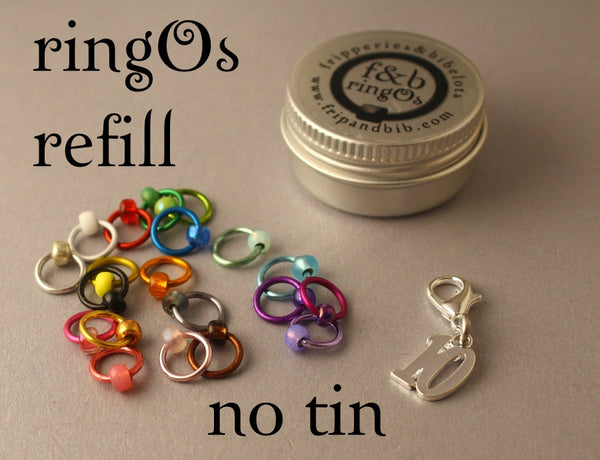 ringOs REFILL ~ Ten ~ LIMITED EDITION Snag Free Ring Stitch Markers for Knitting
