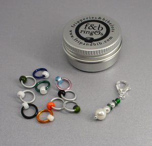 Christmas ringOs The Snowman ~ Limited Edition Snag Free Ring Stitch Markers for Knitting