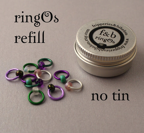 ringOs REFILL ~ Thistle ~ Snag Free Ring Stitch Markers for Knitting