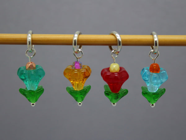 Little Tulips Stitch Markers for Knitting and Crochet