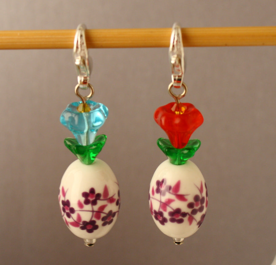 Flower In A Vase Stitch Markers for Crochet