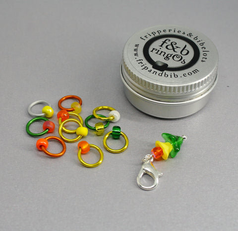 ringOs Waiting for Daffodils ~ Limited Edition Snag Free Ring Stitch Markers for Knitting