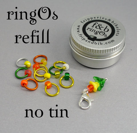 ringOs REFILL ~ Waiting for Daffodils ~ Limited Edition Snag Free Ring Stitch Markers for Knitting