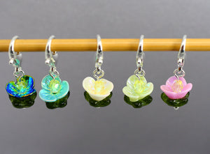 Waterlilies Stitch Markers for Crochet