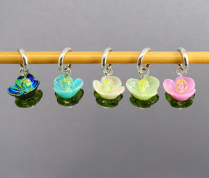 Waterlilies Stitch Markers for Knitting