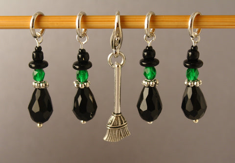 Wee Wicked Witches Stitch Markers for Knitting LIMITED EDITION