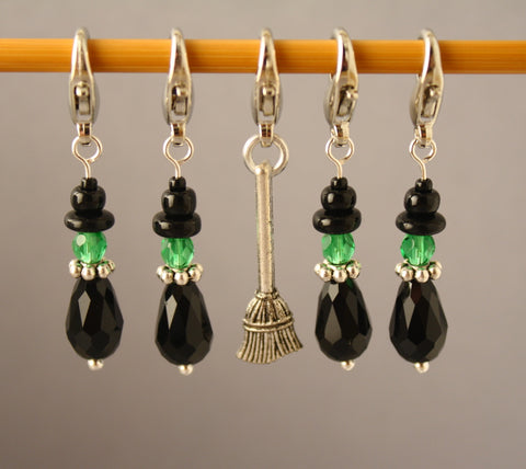 Wee Wicked Witches Stitch Markers for Crochet LIMITED EDITION
