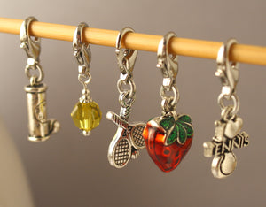 Wimbledon Charm Stitch Markers for Crochet LIMITED EDITION