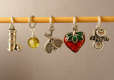 Wimbledon Charm Stitch Markers for Knitting LIMITED EDITION