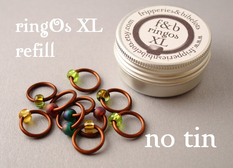 ringOs XL REFILL - Woodland - Snag-Free Ring Stitch Markers for Knitting