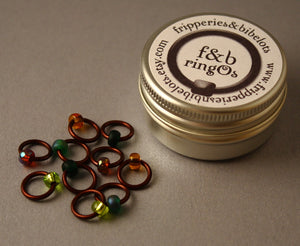 ringOs Woodland ~ Snag Free Ring Stitch Markers for Knitting