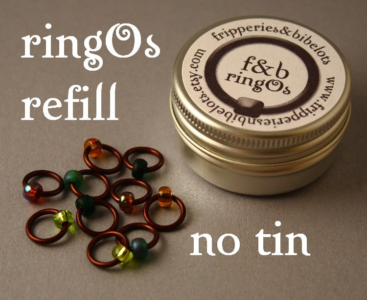 ringOs REFILL ~ Woodland ~ Snag Free Ring Stitch Markers for Knitting
