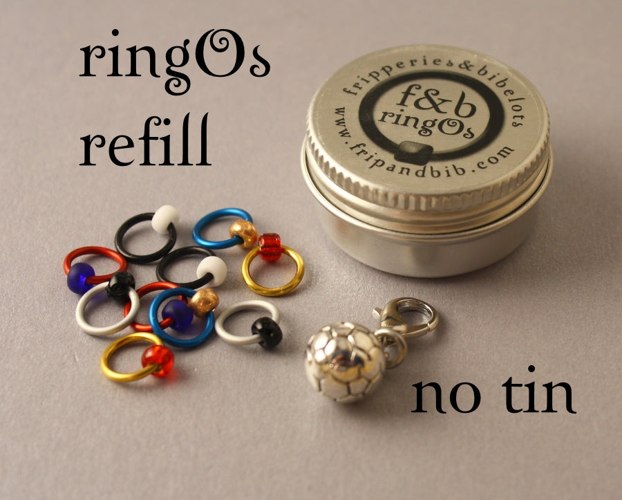 ringOs REFILL ~ World Cup ~ LIMITED EDITION Snag Free Ring Stitch Markers for Knitting