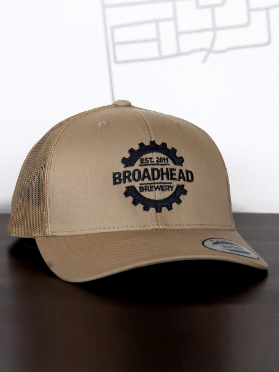 Snap Back Trucker Hat - Beige