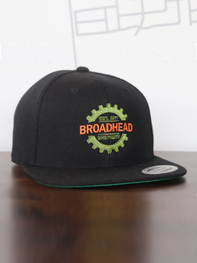 Snap Back Flat Bill - Black