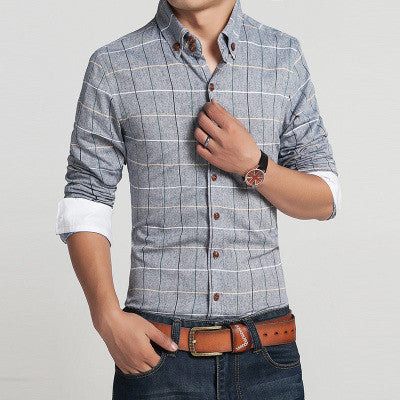 Linen Checker Button Down