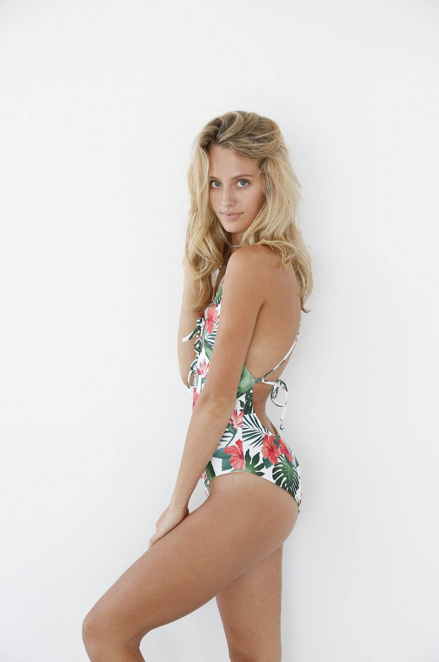 MAHINA JUST A DIP ONE PIECE - HIBISCUS