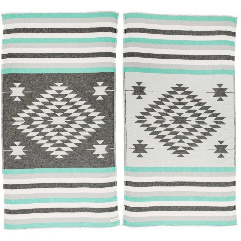 BERSUSE CARMEN TURKISH TOWEL, BLACK MINT
