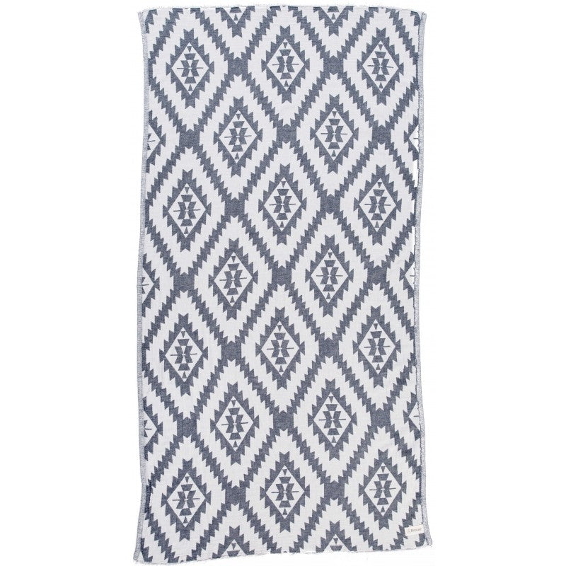 BERSUSE ZIPOLITE TURKISH TOWEL, DARK BLUE