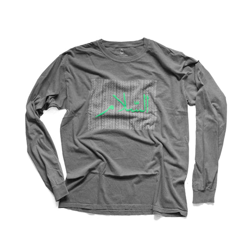 PEACE LONG SLEEVE - GRAY