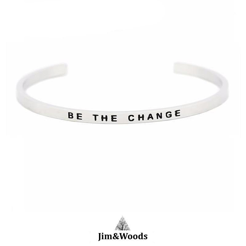 Bracelet Jonc Mantra BE THE CHANGE