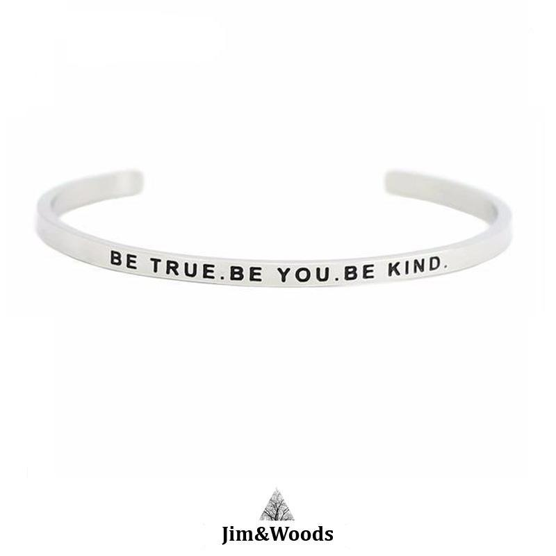 Bracelet Jonc Mantra BE TRUE BE YOU BE KIND