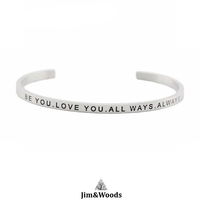 Bracelet Jonc Mantra BE YOU LOVE YOU ALL WAYS ALLWAYS