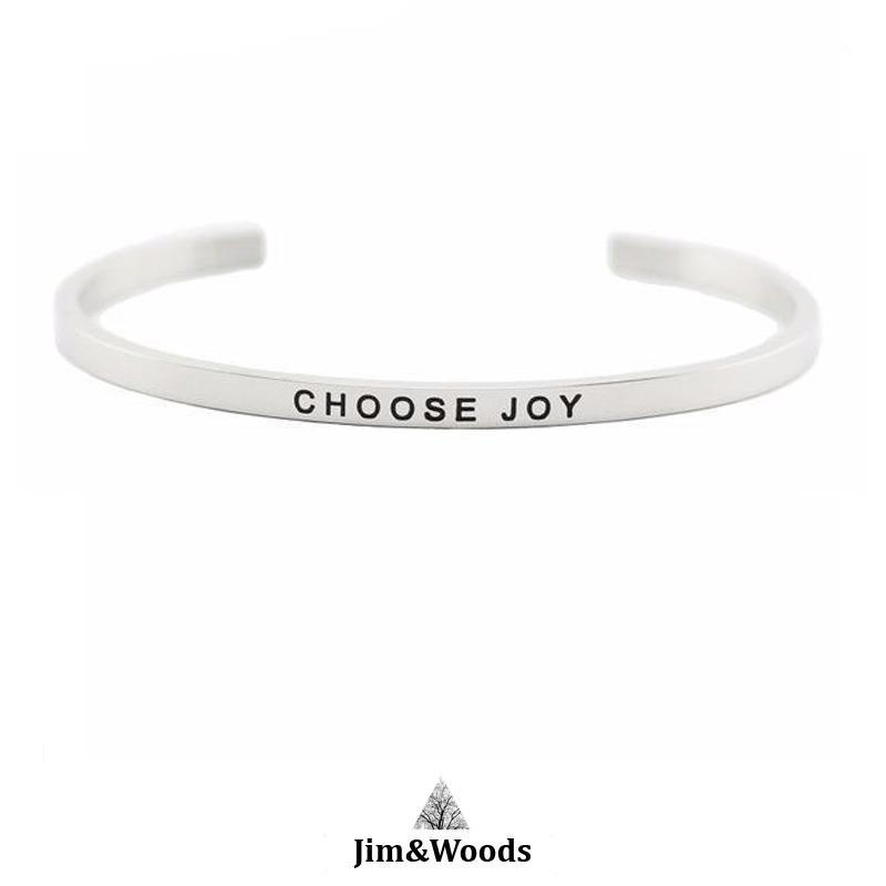Bracelet Jonc Mantra CHOOSE JOY
