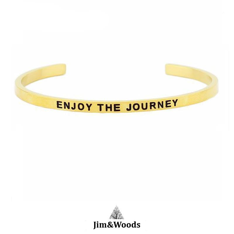 Bracelet Jonc Mantra DORE ENJOY THE JOURNEY