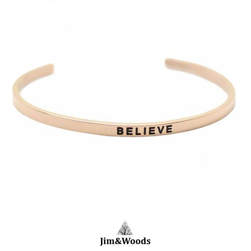 Bracelet Jonc Mantra ROSE BELIEVE